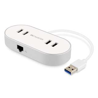 (BNIB) BC Master 4-Port USB 3.0 Hub with RJ45 10/100/1000 Gigabit Ethernet Network Adapter (Brand New Boxed)