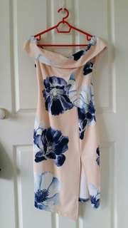 Floral creme dress