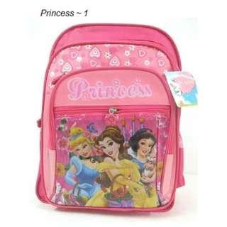Primary Bagpack/ School Bag For Girl - Princess
