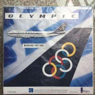 Special OLYMPIC AIRWAYS BOEING 747-1001:200 Model Replica Plane