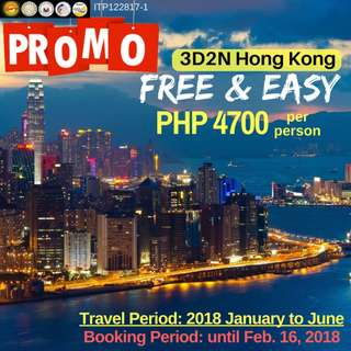 Promo: 3D2N Hong Kong Free & Easy Tour Package