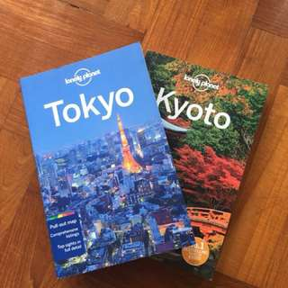 Lonely planet travel guides: TOKYO + KYOTO set