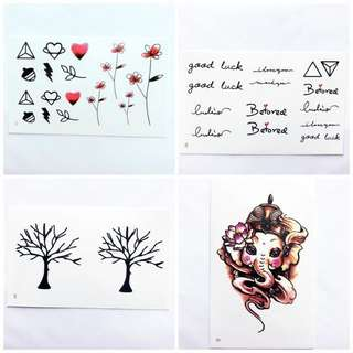 Set K Temporary Tattoo