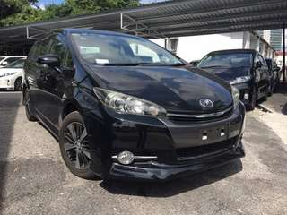 Toyota wish 1.8 new facelift unreg 2012 full loan