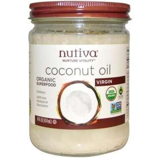 Nutiva, Organic Superfood, Coconut Oil, Virgin, 14 fl oz (414 ml)