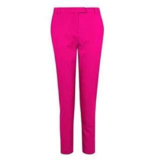 Topshop Petite Fuschia Cigarette Trouser / Pants