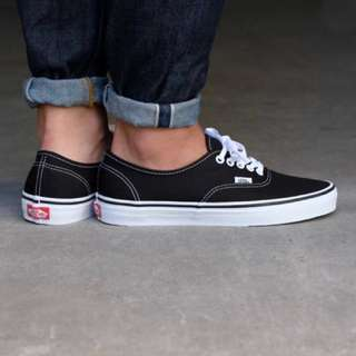 vans authentic b/w