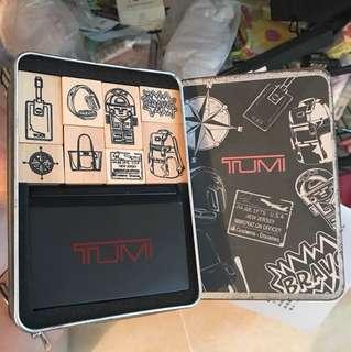 USA -TUMI 印章套裝 盒鏽 未用過