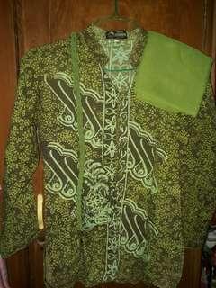 Batik pekalongan free belt + jilbab
