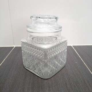 Anchor Hocking Wexford glass Container made in USA 🇺🇸