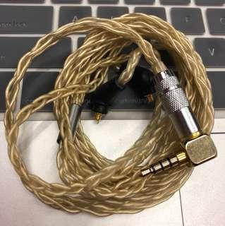 耳機升級線,金銀6絞,平衡3.5頭,送轉換線