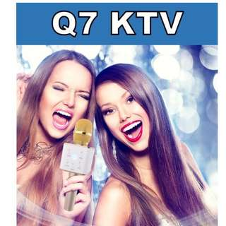 Q7 Wireless Bluetooth Karaoke PLAYER Microphone Q7 For iOS Android | KTV