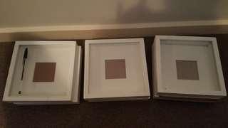 Cute white photo frames