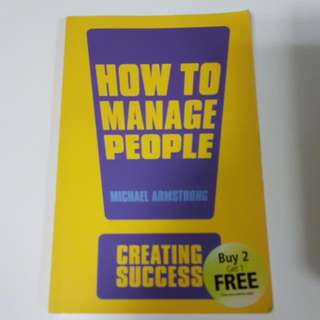 How To Manage People - Michael Armstrong
