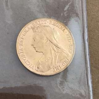 1897 Victoria gold Sovereign