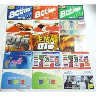 15pcs Used Malaysia Collectable PHONE Cards 2006 Hotlink Digi TM RedTone Celcom