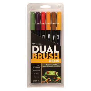 (Special Price) Tombow Dual Brush Pen Set, Secondary 6C
