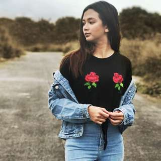 Roses Tie Knot Shirt