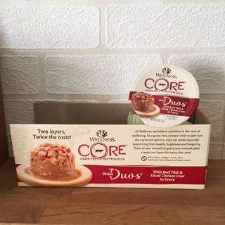Wellness Core Divine Duos - Beef Pate & Diced Chicken Liver in Gravy