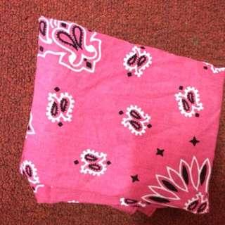 Tribal Pink Handkerchief