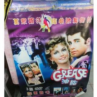 特價 電影 油脂 GREASE (宣傳DVD 大海報) John Travolta, Olivia Newton-John