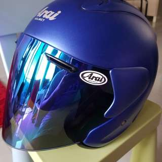 Arai ram 3 flat blue with tinted visor. Brand new condition