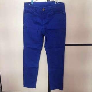 New有彈性悠閒長褲Blue trousers