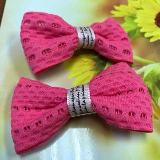 Clips ribbon pink color #08