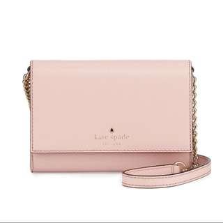 Kate Spade Cedar Street - Cami Crossbody Bag - Rose Jade/Baby Pink