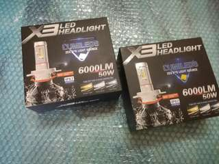 X3 LED headlight 3 color
