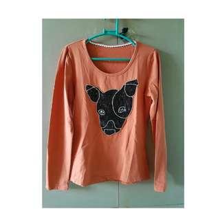 Casual Orange Long Sleeves