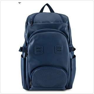 #CANAVS WAXED BLUE BACKPACK