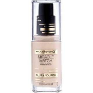 Max Factor Miracle Match Foundation Brand New