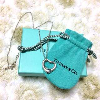 Preloved Tiffany & Co. Open Heart Pendant Necklace