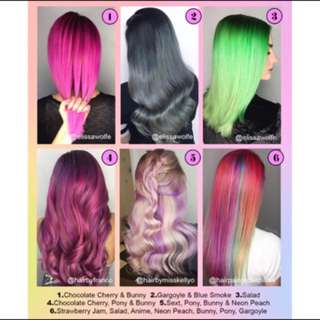 Unicorn Hair Semi Permanent Hair Dye