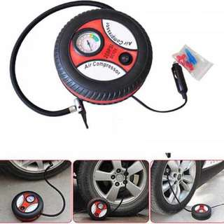 Electric Car Pump Tire Inflator Mini Air Compressor