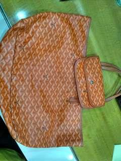 "Tas ""Goyard"" orange totte bag"