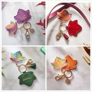 Starbucks Autumn Leaf Keychains + Card Set