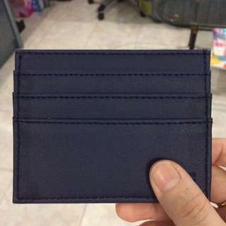 Mini card purse dompet kartu navy
