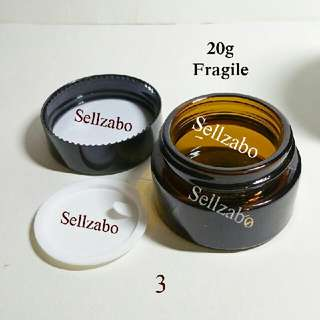 30g : Case : Casings : Box : Tubs : Containers : Face : Facial : Beauty : Makeup : Cosmetics : Skincare : Skin Care : Travelling : Portable : Transfer : Transferring : Refill : Refilling : Glass : Brown Colour : Fragile : Tools : Storage : 30ml
