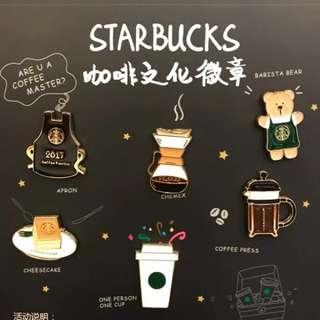 Starbucks 2017 Coffee Culture Pin Set