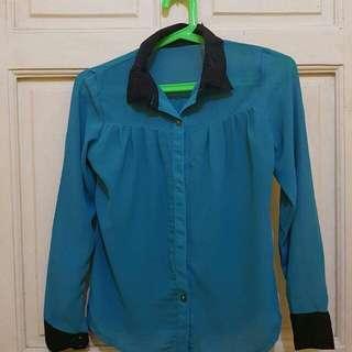 Blue green polo