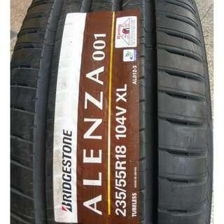 235/55/18 普利司通 頂級休旅車輪胎 日本進口 ALENZA 耐磨指數 300 年終特賣限量一組四條合裝完購價