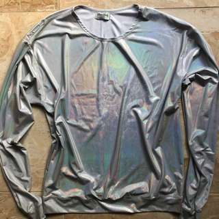 Candy Chain NYC Iridescent Holographic Jumper Top Festival