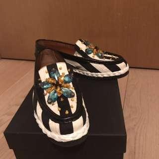 Dolce & Gabbana Embellished Moccasin