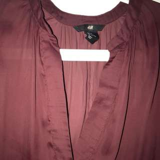 (Only used once) H&M chiffon top