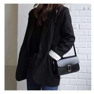 韓國 首爾 東大門 手袋 袋 簡約 黑 斜孭 側孭 空姐