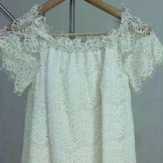 jolie white lace dress
