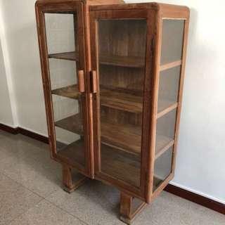 Retro Vintage Glass Cabinet