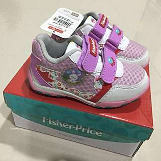 NEW Authentic Fisher-Price Girl Shoe Size 7-12 (approximately 16cm)